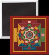 Tibetan mandala magnet, buddhist mandala of the 5 earth elements