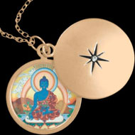medicine buddha pendant with necklace