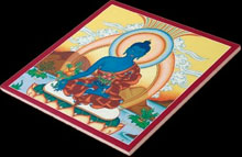ceramic tile with medicine buddha