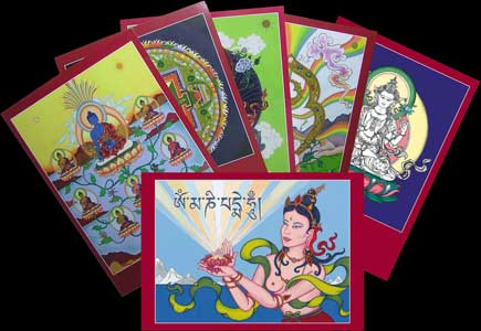 big thanka card set