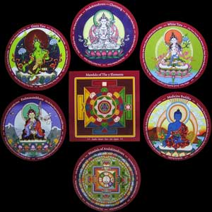 budda stickers set